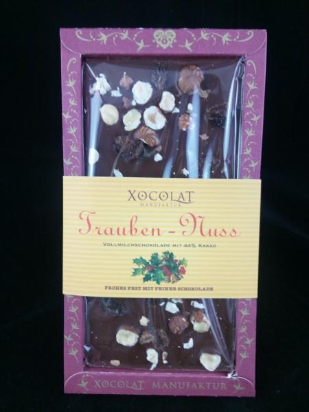 XOCOLAT Weihnachtsschokolade Trauben - Nuss