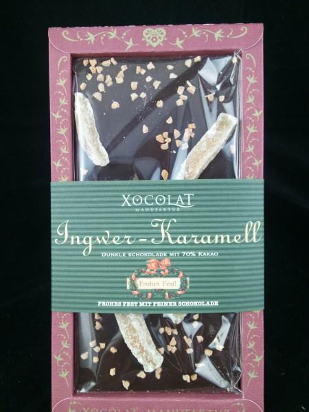 XOCOLAT Weihnachtsschokolade Ingwer - Karamell